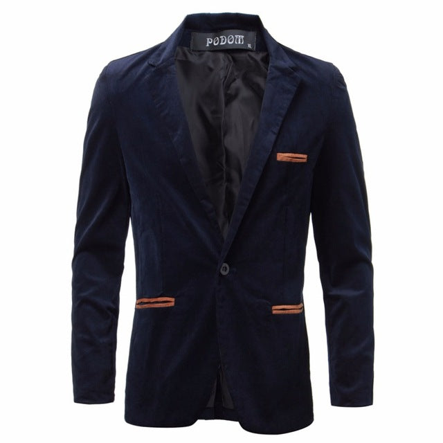 Fashion England Style Mens Blazers Casual Slim Fit Suit Jacket Male Blazers Coat M-3XL Mens Clothing Masculino Terno Outwear
