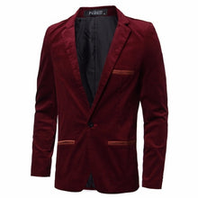 Load image into Gallery viewer, Fashion England Style Mens Blazers Casual Slim Fit Suit Jacket Male Blazers Coat M-3XL Mens Clothing Masculino Terno Outwear