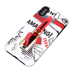 TPU Protective Phone Cover Lipstick Painting Pattern Anti-Scratch Dustproof Shockproof Phone Case Cover for iPhone