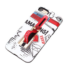 Load image into Gallery viewer, TPU Protective Phone Cover Lipstick Painting Pattern Anti-Scratch Dustproof Shockproof Phone Case Cover for iPhone