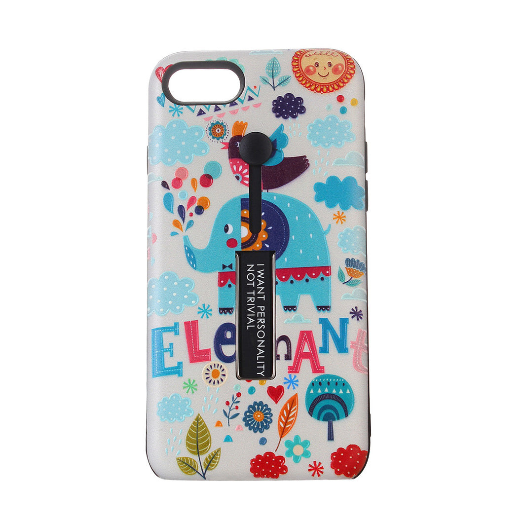 Cartoon Elephant Relief Painted TPU Raytheon Series Anti Wrestling and Anti Scraping Phone Case Shell for iPhone
