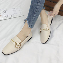 Load image into Gallery viewer, Fashion Women British Single Shoes Shallow Mouth Small Shoes Flat Shoes