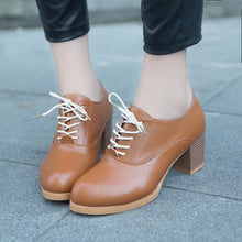 Load image into Gallery viewer, Women's Ladies Shoes Fashion Ankle Oxford Leather Casual Shoes Short Boots