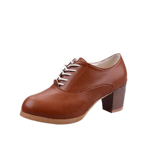 Women's Ladies Shoes Fashion Ankle Oxford Leather Casual Shoes Short Boots