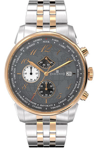 Executive Club Steel Watch - Gents Quartz Chronograph