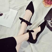Load image into Gallery viewer, Spring&Summer Woman Shoes Ankle Straps Buckle Flats Pointed Toe Shoes