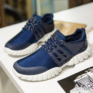Men Fashion Solid Color Wear Resisting Cross Tied Gym Shoes Climbing Shoes