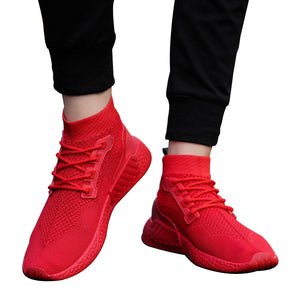 Fashion Men High Help Soft Sole Running Shoes Gym Shoes Socks Shoes
