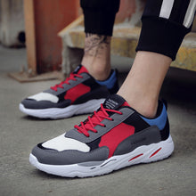 Load image into Gallery viewer, Men's Casual Sport Shoes Patchwork Travel Shoes Breathable Lace-up Sneakers