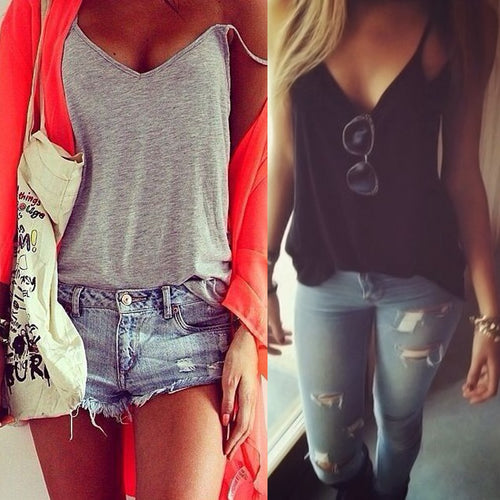 Fashion Women Summer Vest Top Sleeveless Shirt Blouse Casual Tank Top T Shirt