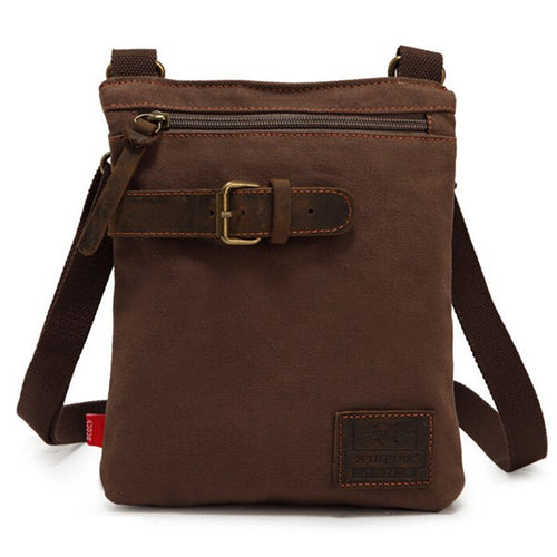 Vintage Style Men's Boys Leisure Canvas Small Shoulder Bag Cross-body Messenger Bag Travel Bag