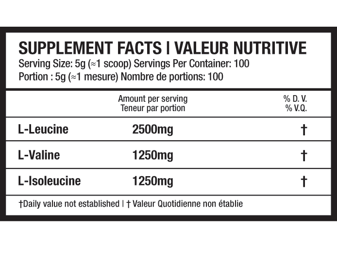 Beyond Yourself Pure BCAA Supplement Facts