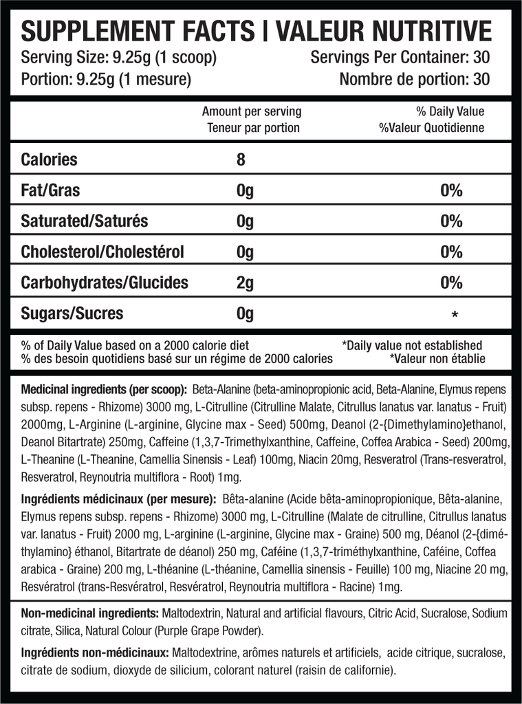 Beyond Yourself PRESET Supplement Facts