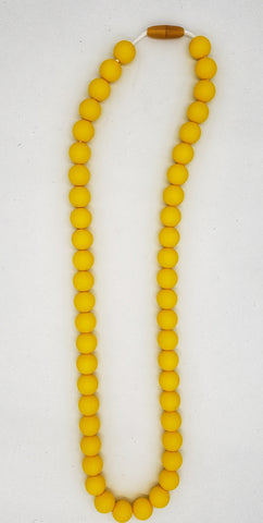 Ladies dark yellow necklace