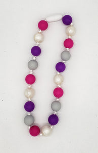 Children's pink purple necklace