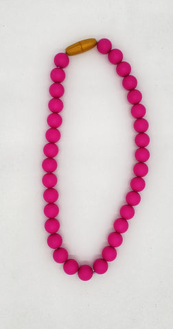 Children's hot pink necklace