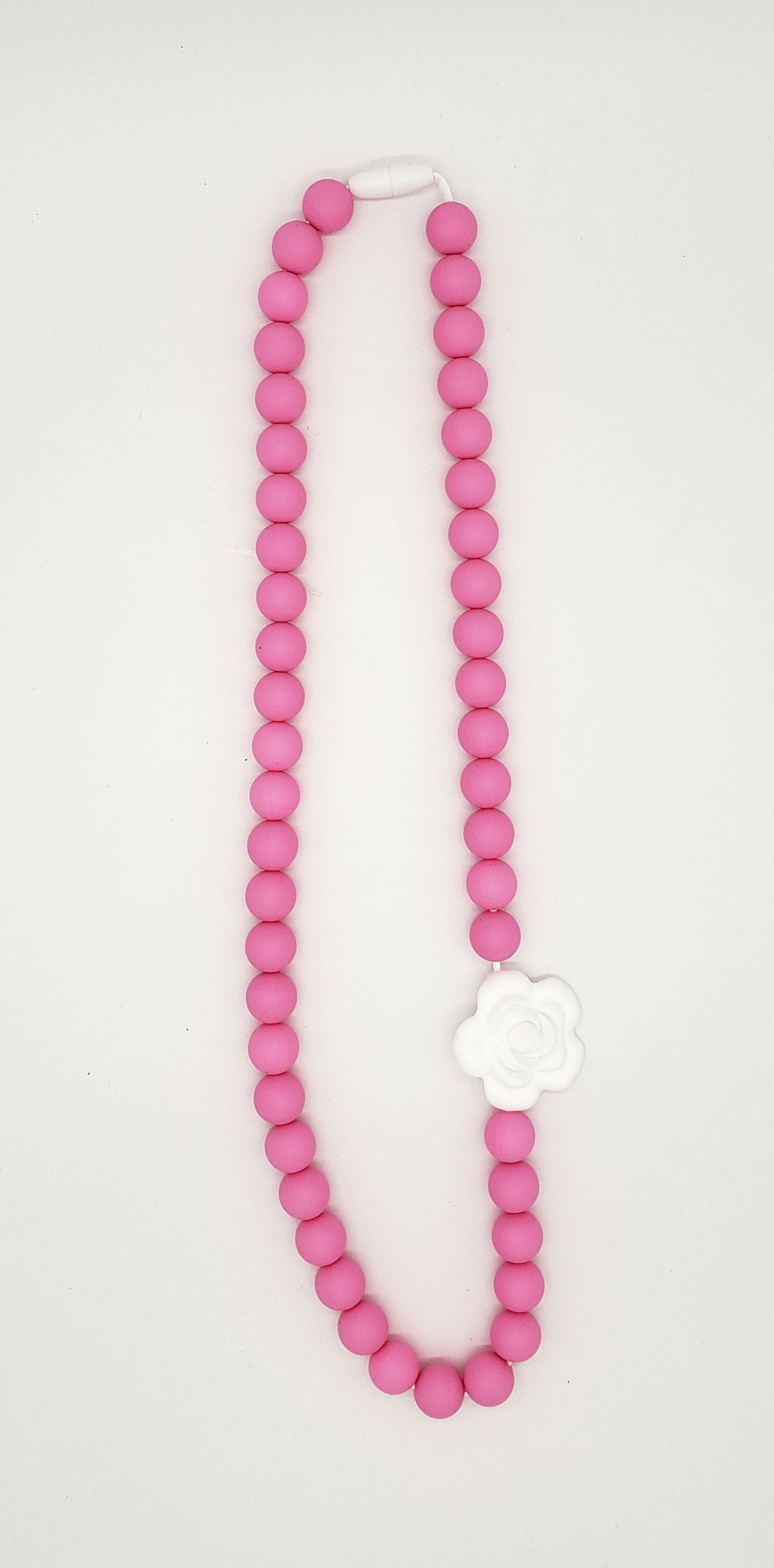 White rose adult necklace