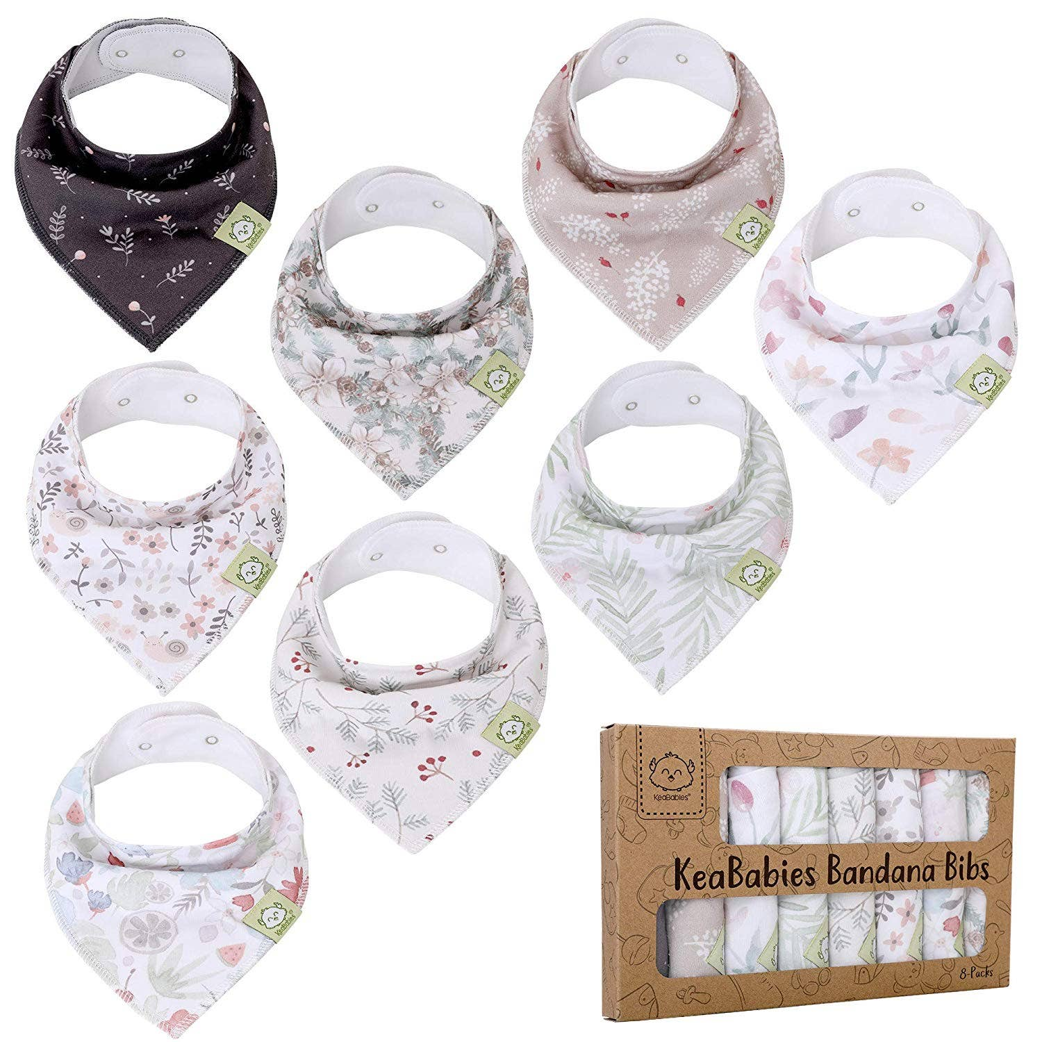 Organic Bandana Bibs (Bloom)