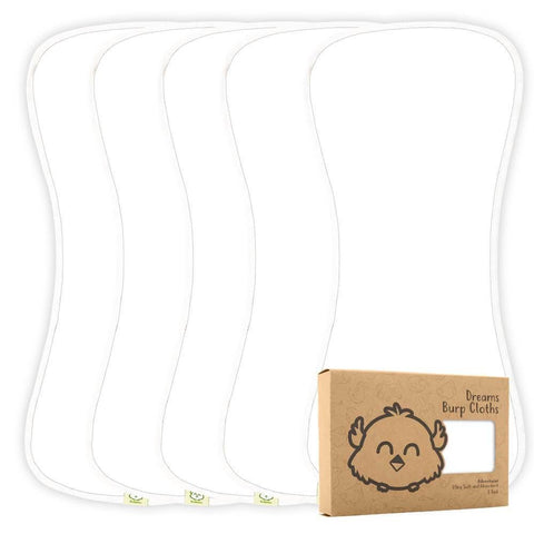 Baby Burp Cloths (Soft White)