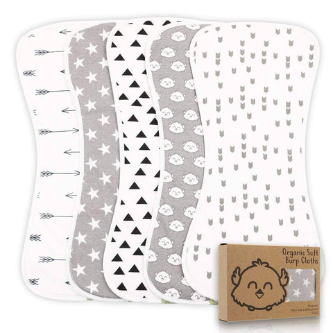 Baby Burp Cloths (Grayscape)