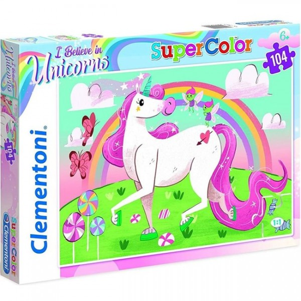CLEMENTONI SUPERCOLOR ΠΑΖΛ 104 I BELIEVE IN UNICORNS (1210-27109)