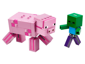 LEGO Minecraft™ BigFig Pig with Baby Zombie (21157)