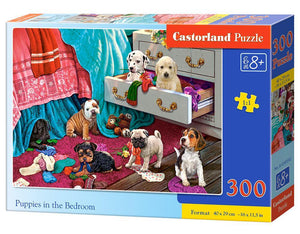 Castorland Παζλ 300 Κομμάτια Puppies in the Bedroom (B-030392)