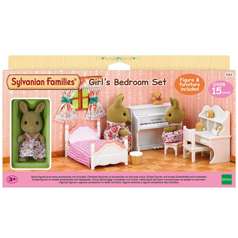Sylvanian Families Girl's Bedroom Set with Rabbit Sister (5162)
