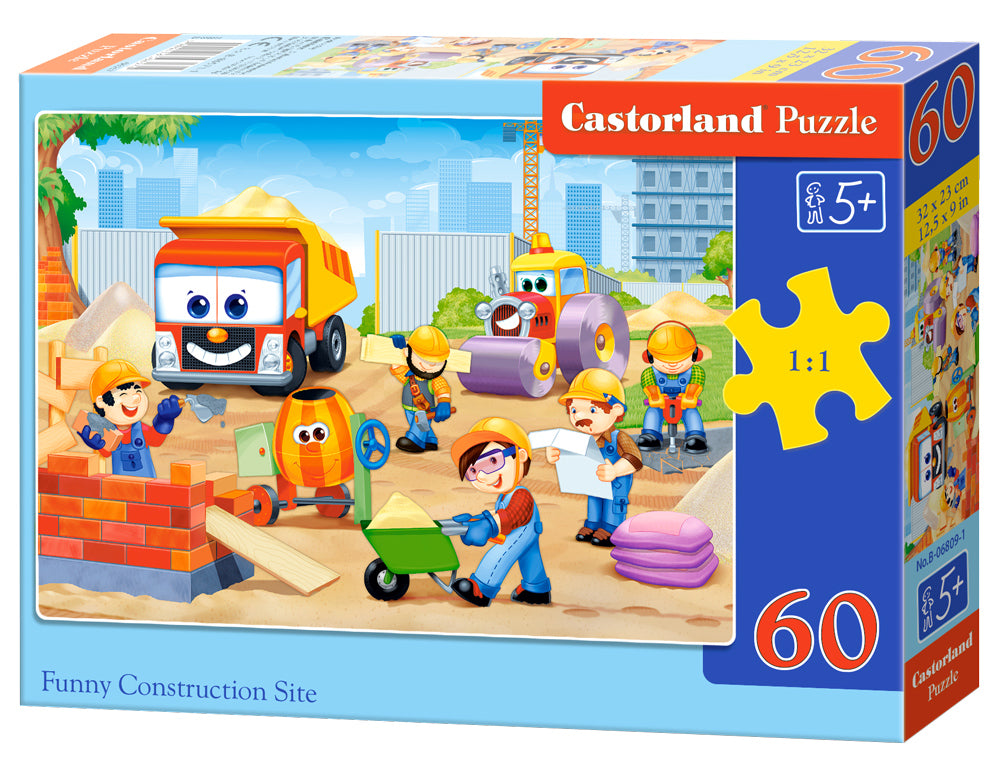 Castorland Παζλ 60 κομμάτια Funny Construction Site (B-06809-1)