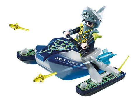 Playmobil Top Agents Aqua Scooter της SHARK Team (70007)