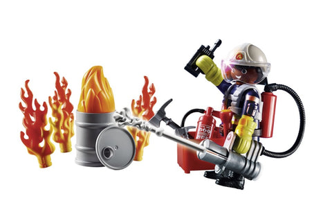 "Playmobil City Action Gift Set ""Πυροσβέστης με αντλία νερού"" (70291)"