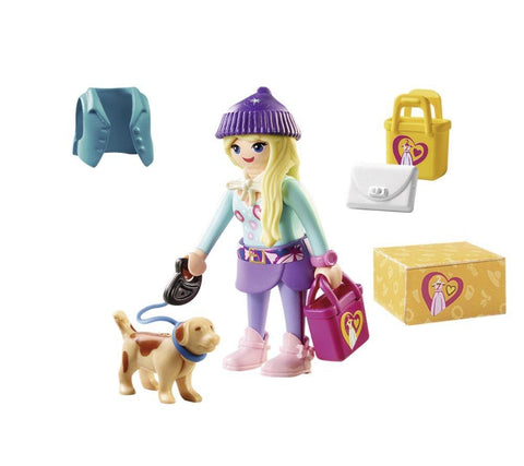 Playmobil City Life Fashion Girl με σκυλάκι (70595)