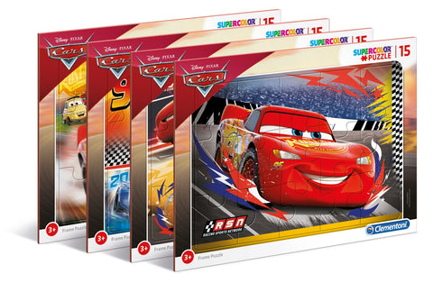 Παζλ 15τεμ Frame Supercolor Disney Cars (1200-87007)