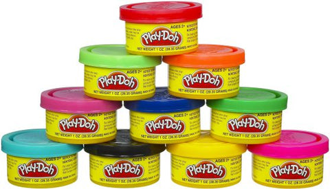 Playdoh Party Μίνι Βαζάκια Σετ 10 τεμάχια (22037)