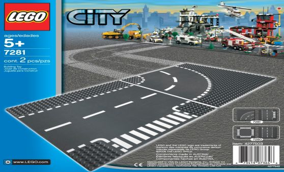 Lego City T-junction & Curve (7281)