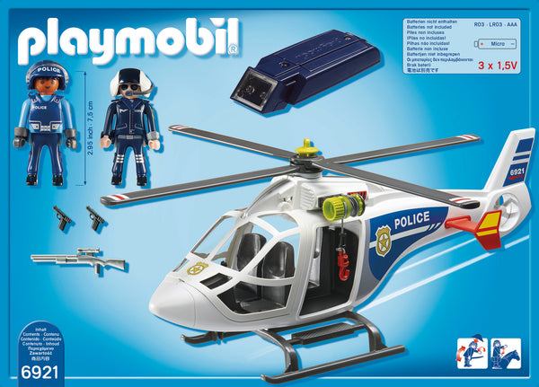 Playmobil City Action Ελικόπτερο Αστυνομίας με προβολέα LED (6921)