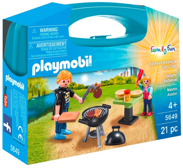 Playmobil Family Fun Βαλιτσάκι Barbecue (5649)