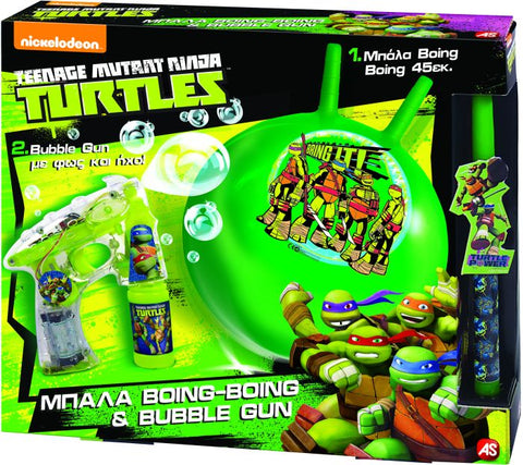 ΛΑΜΠΑΔΑ BOING & BUBBLE GUN TURTLES (1500-15583)