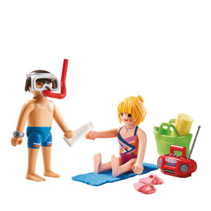 Playmobil Family Fun Duo Pack Λουόμενοι στην παραλία (9449)