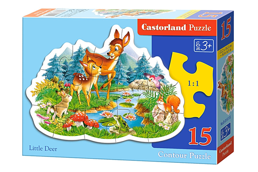 Παζλ MIDI 15 κομμάτια Castorland Little Deer Jigsaw (B-015115)
