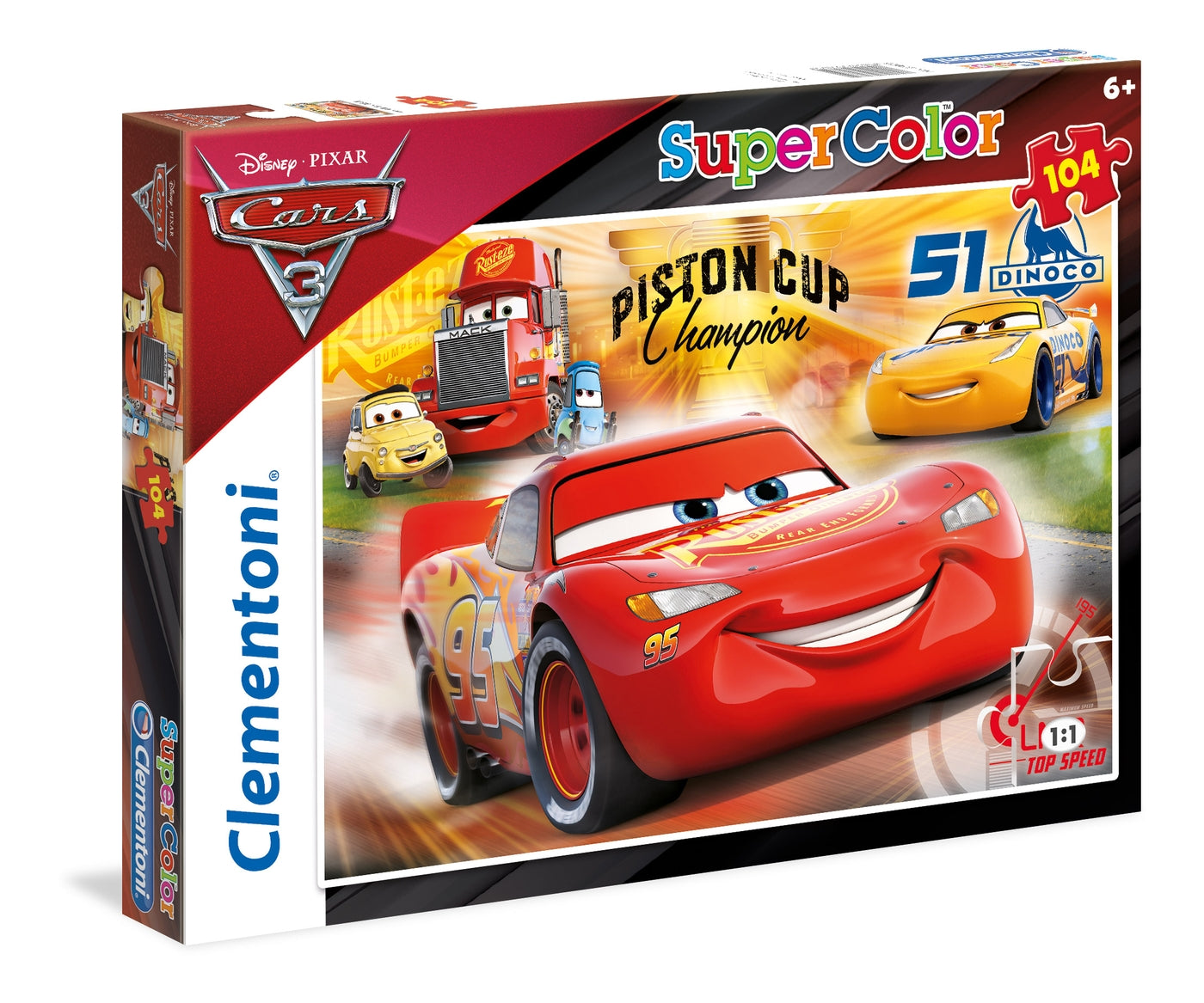 ΠΑΖΛ CLEMENTONI 104 S.C. Cars: Racing Hero (1210-27075)