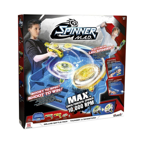 Silverlit Spinner M.A.D. Deluxe Σετ Μάχης (7530-86331)