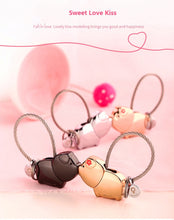 Load image into Gallery viewer, Milesi cute kiss pig couple keychain for lover christmas