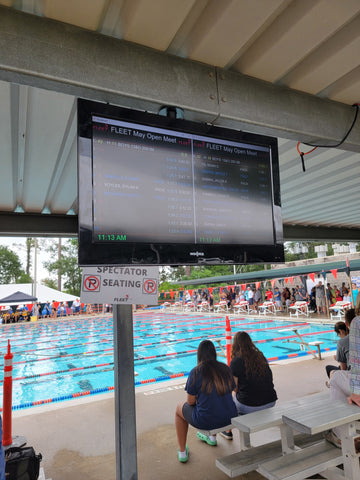 live stream a swim meet with a projector using swimnerd live