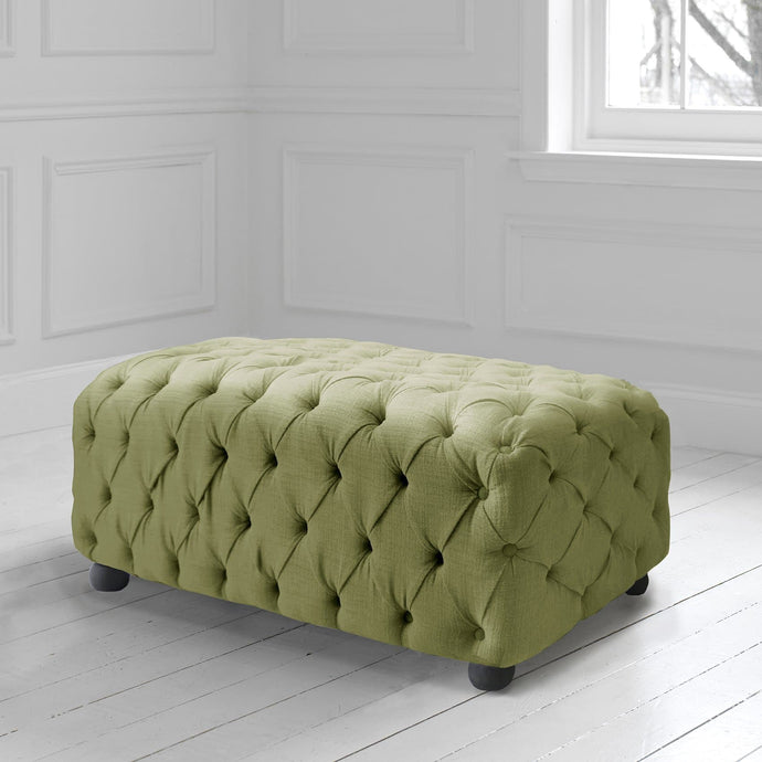 Alpheus Footstool in Malleny Celery Fabric