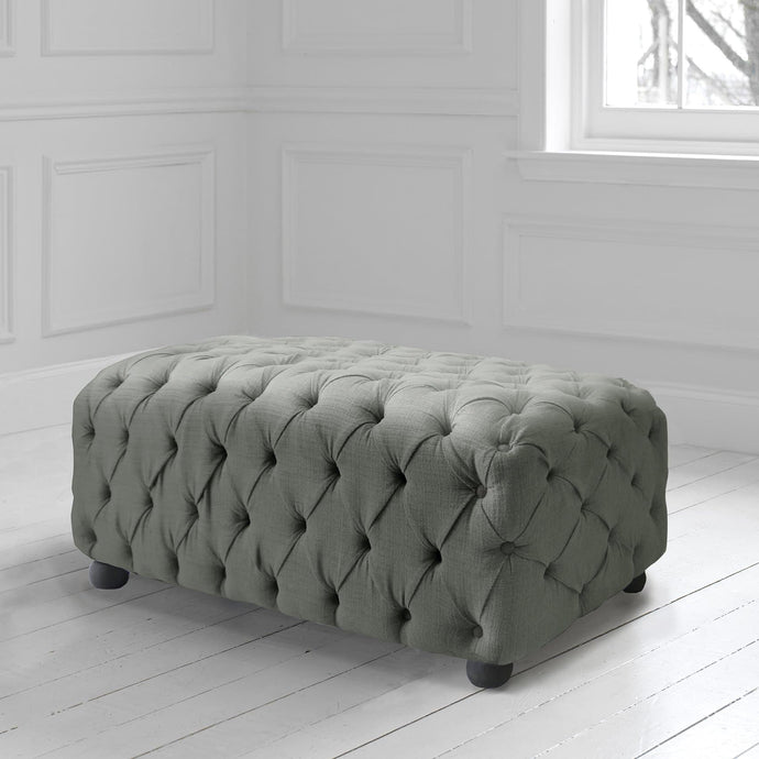 Alpheus Footstool in Malleny Jute Fabric