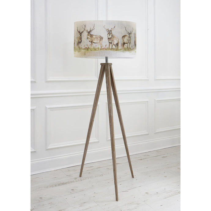 Voyage Aratus Floor Lamp with Moorland Stag Shade (4468174716986)