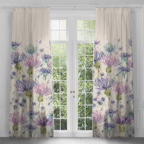Eilean Donan Purple Thistle Long Curtains (4311640670266)