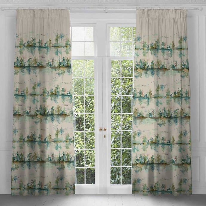 Wilderness Topaz Extra Long Curtains (4436473544762)