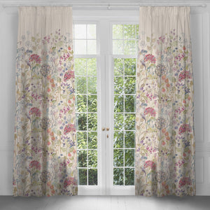 Extra Long 3m Linen Curtains with Hedgerow Design (4465239523386)